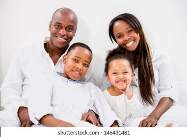 Portrait of a beautiful family looking very happy