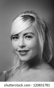 Portrait of beautiful female model shot in the studio