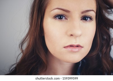 The portrait of a beautiful girl