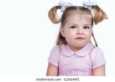 Portrait of a beautiful girl closeup