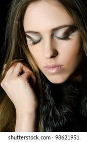 Portrait of beautiful girl - Creative make-up
