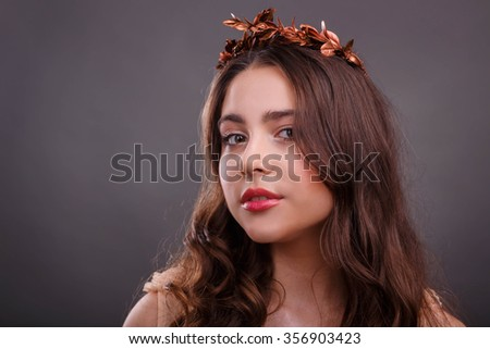 Portrait Beautiful Girl Image Greek Goddess Stock Photo Edit Now
