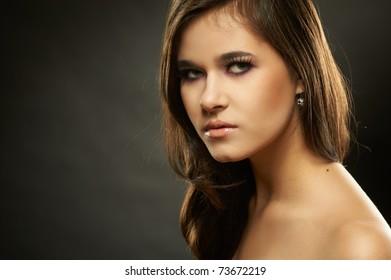 Portrait of a beautiful girl, studio shot