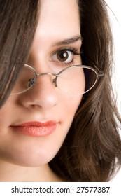 Portrait of a beautiful glamour brunette