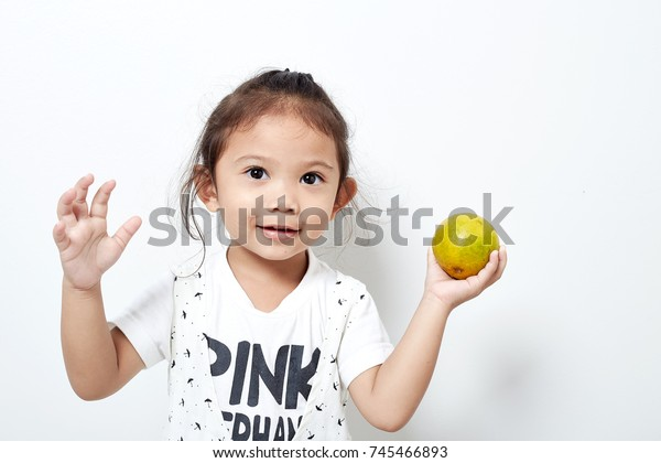 Portrait Beautiful Happy Long Hair Child Stock Photo (Edit