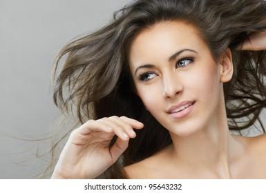 portrait of a beautiful healthy girl