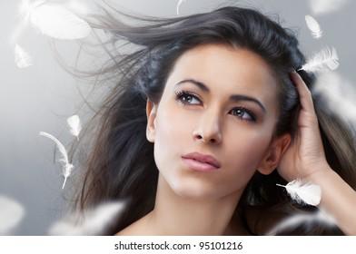 portrait of a beautiful healthy woman