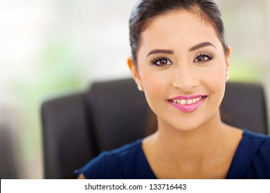 portrait of beautiful indian businesswoman close up