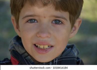 portrait of a beautiful little boy