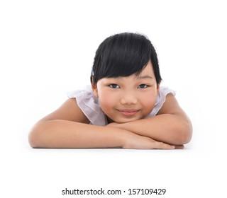portrait of a beautiful little child
