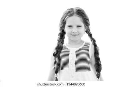 Portrait of a beautiful little girl. Black and white.