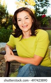 Portrait Of A Beautiful Mature Hispanic Woman