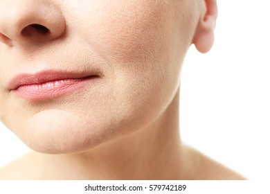 Portrait of beautiful mature woman, closeup