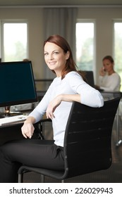 Portrait of beautiful middle age business woman standing at office.