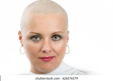 Woman head hair shaved sorry, not