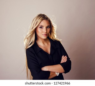 portrait of beautiful model.