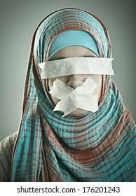 Portrait of a beautiful Muslim Arabic girl