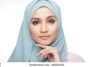 portrait of beautiful musliman asian woman