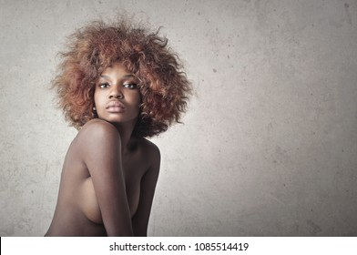 Portrait of beautiful naked woman