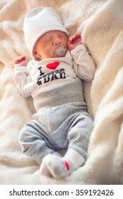 portrait of beautiful newborn boy
