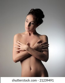 portrait of a beautiful nude woman