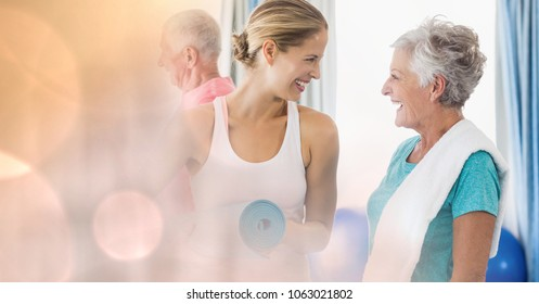 Portrait of beautiful people smiling and looking at each other in house