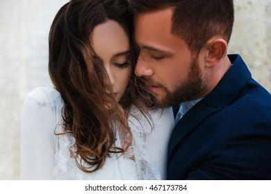 Portrait of beautiful romantic couple