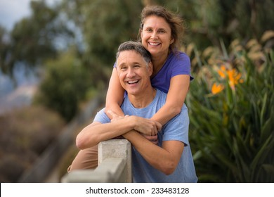 Portrait of a beautiful senior fifties couple
