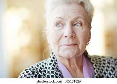 Portrait of a beautiful senior woman