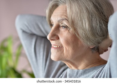 Portrait of a beautiful senior woman close-up