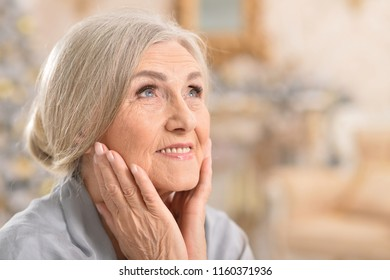 Portrait of a beautiful senior woman posing