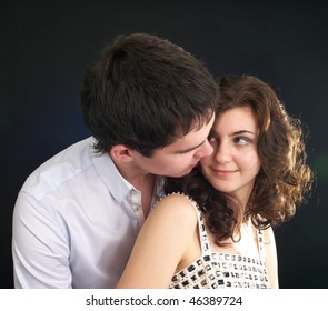 Portrait of beautiful sexual couple in the party