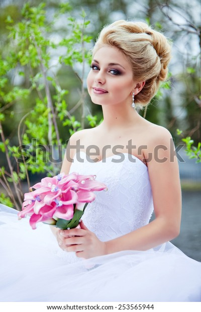 Portrait Beautiful Sexy Bride Blonde White Stock Photo Edit Now