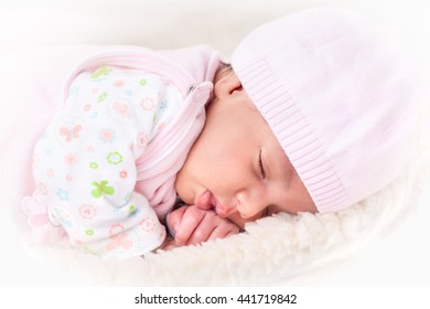 portrait of a beautiful sleeping baby
