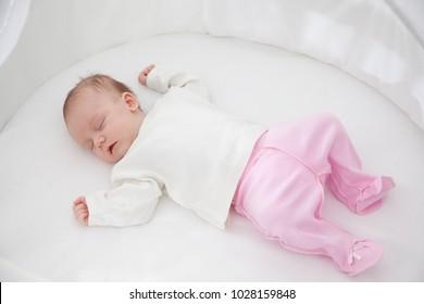 portrait of a beautiful sleeping baby girl