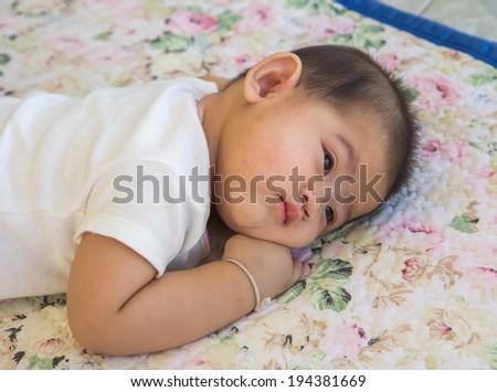 98367954e Portrait Beautiful Sleeping Baby Girl Stock Photo (Edit Now ...