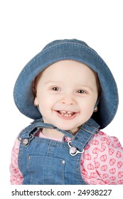 portrait of a beautiful smiling baby girl