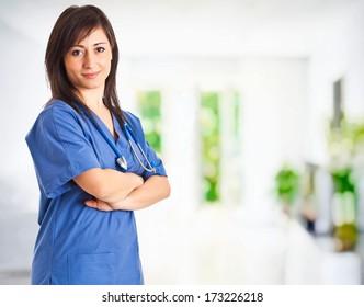 Portrait of a beautiful smiling nurse