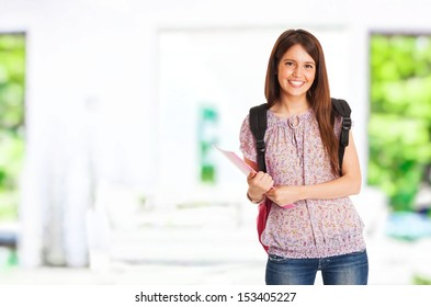 Portrait of a beautiful smiling student