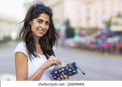 portrait of a beautiful smiling woman outdoor