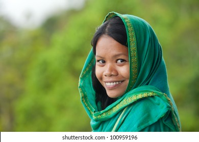 Portrait of beautiful south-east asian looking young woman