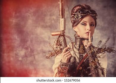 Steampunk Woman Images Stock Photos Vectors Shutterstock