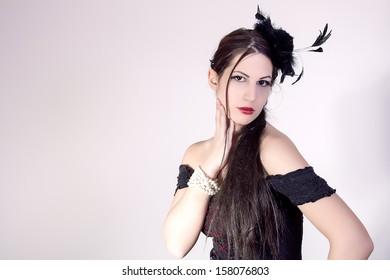 portrait of beautiful stylish girl
