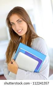 Portrait of beautiful university girl