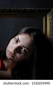 portrait of a beautiful vampire