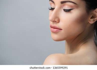 Portrait. Beautiful woman in close-up