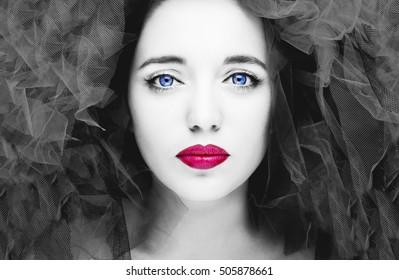 Portrait of beautiful woman. Fashion photo
