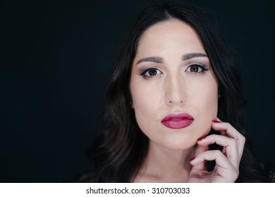 Portrait of beautiful woman, focus on the eyes, shallow depth of field