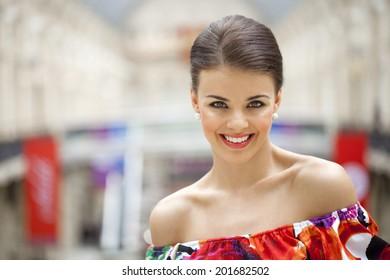 Portrait of beautiful woman indoor