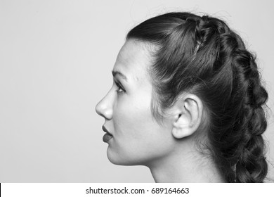 Portrait of a beautiful woman on white background Studio shoot